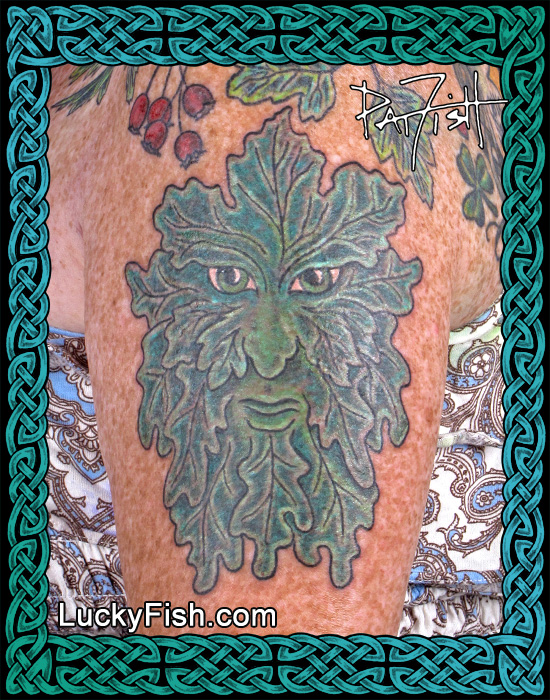 Celtic Green Man Tattoo by Pat Fish