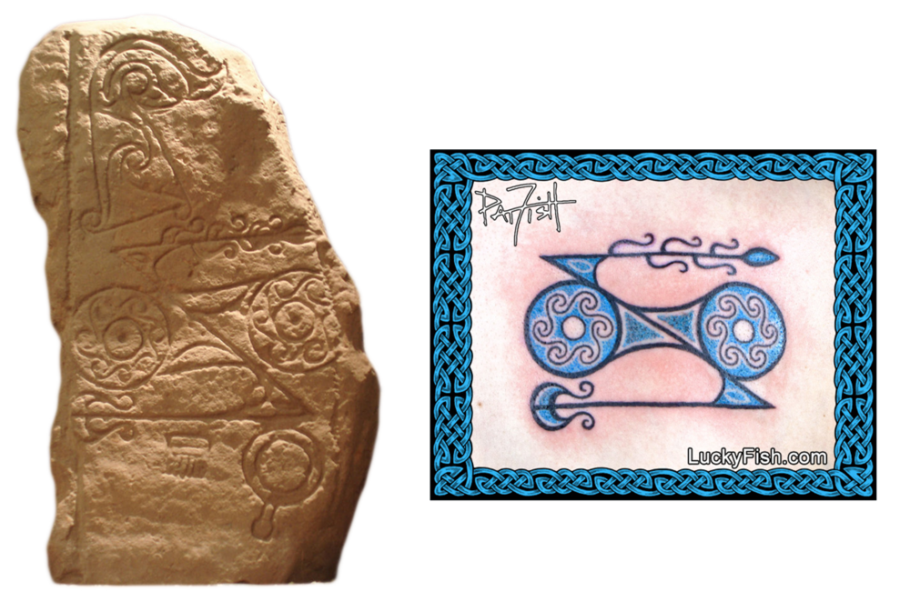 Dunnichen Stone and the Pictish Tattoo it inspired, by Pat FIsh