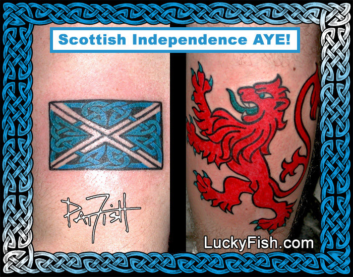 Scottish Celtic Tattoos by Pat Fish