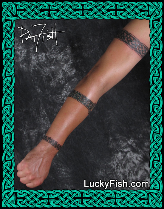 Three Celtic Band Tattoos by Pat Fish