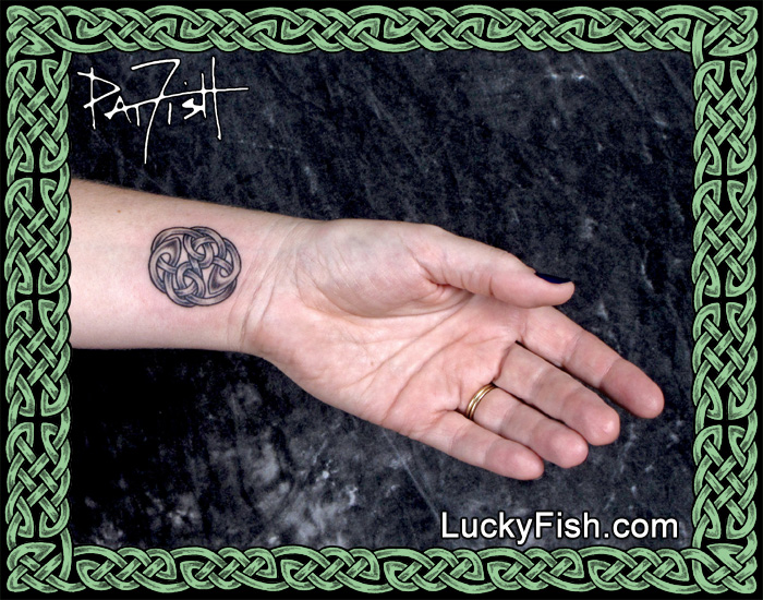 Celtic Yin Yang Tattoo by Pat Fish