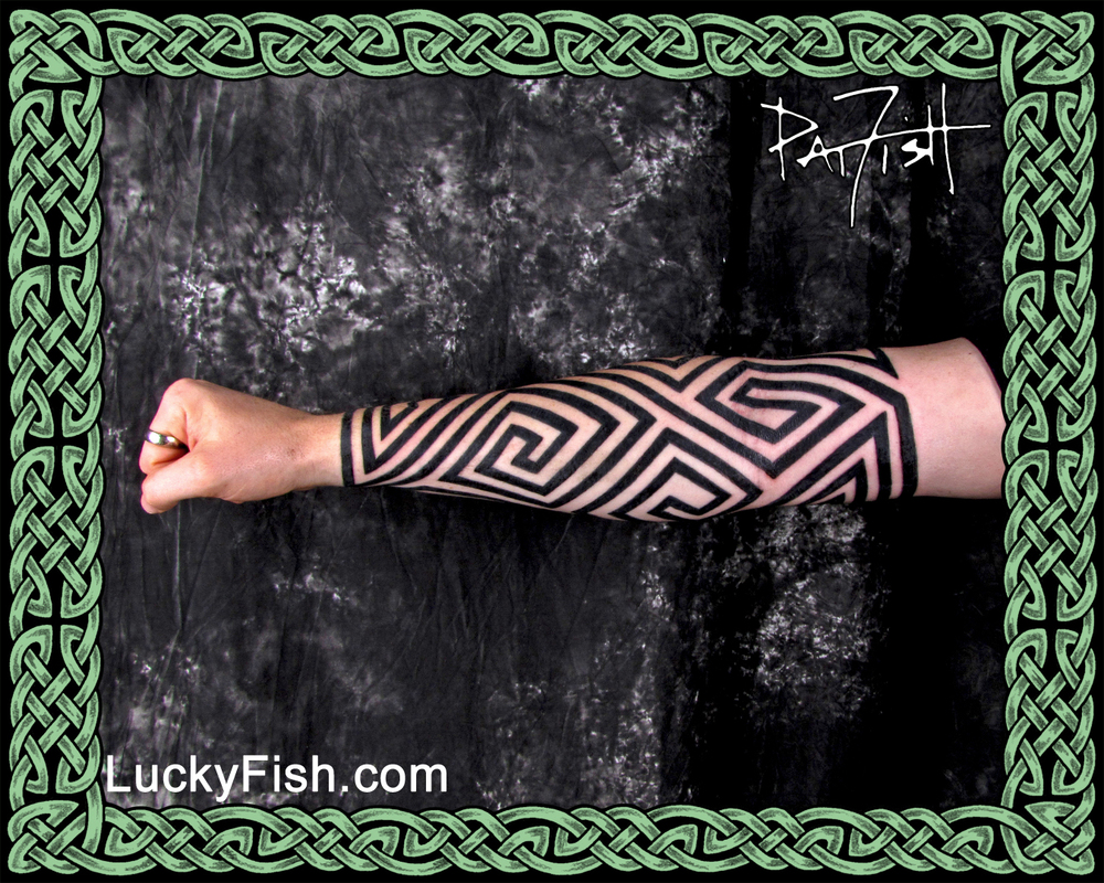 Pictish Keymorphic Sleeve Tattoo by Pat Fish
