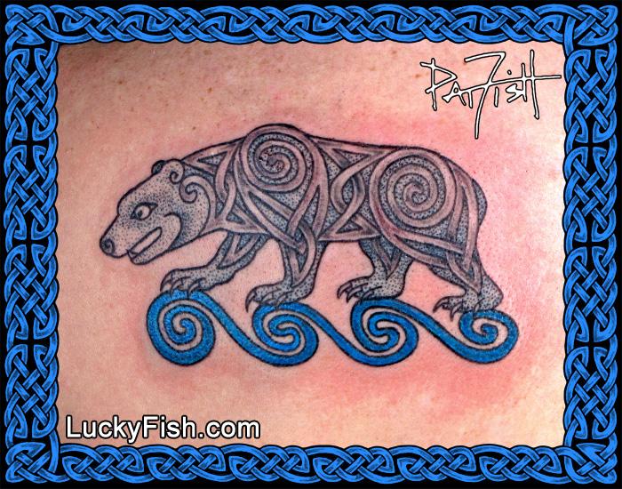 Celtic Bear Tattoo by Pat Fish