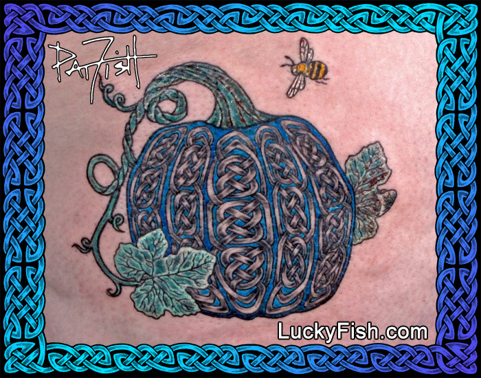Celtic Knotwork Pumpkin Tattoo by Pat FIsh