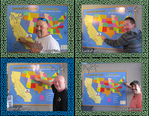 Happy Clients Adding Their Pins to the Map!