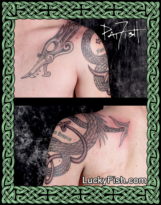 Nordic Dragon Tattoo by Pat FIsh