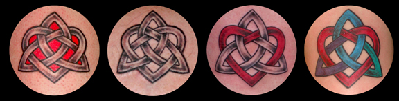 Celtic 'Faithful Heart' Tattoos by Pat Fish