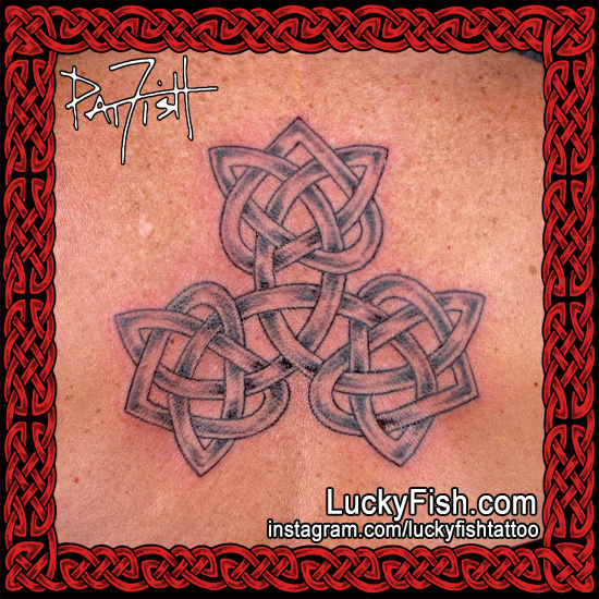 Celtic Triple Heart 'Love Triangle' Tattoo