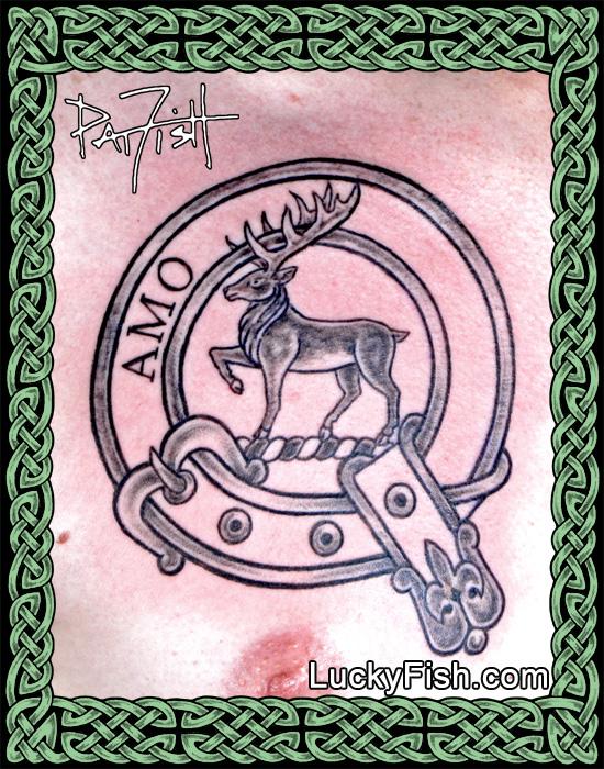 Clan Scott Badge Tattoo by Pat Fish
