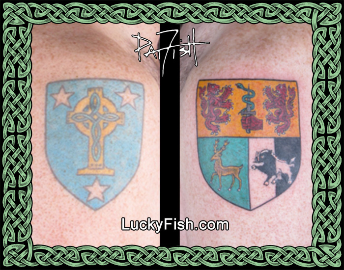 Mother's & Father's Family Crest Tattoos by Pat Fish