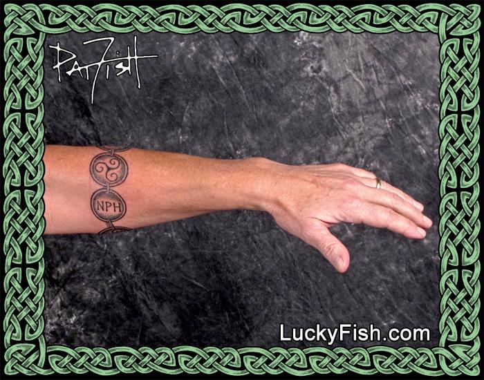 Celtic Dedication Bracelet Tattoo by Pat Fish