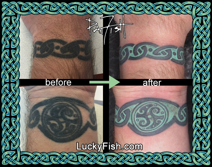 'Eternal Journey' Celtic Bracelet Tattoo Improved by Pat Fish