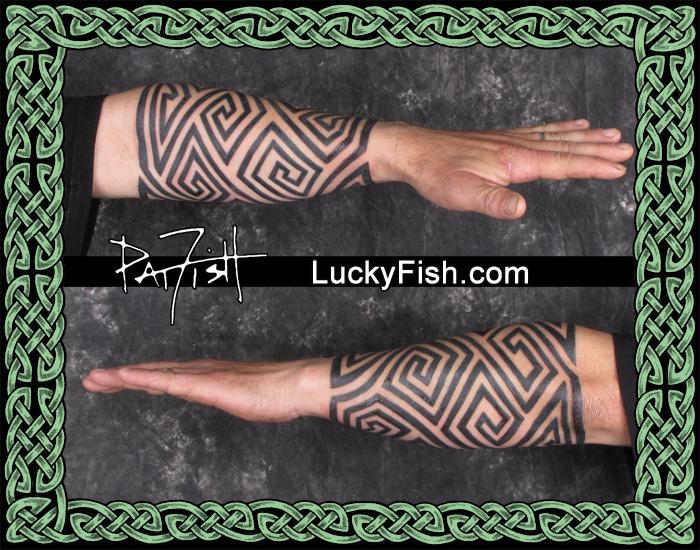 Pictish 'Keymorphic' Sleeve Tattoo by Pat Fish