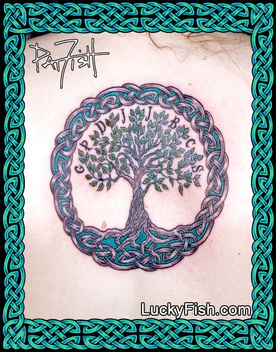 Personalized Celtic Tree of Life Tattoo by Pat Fish
