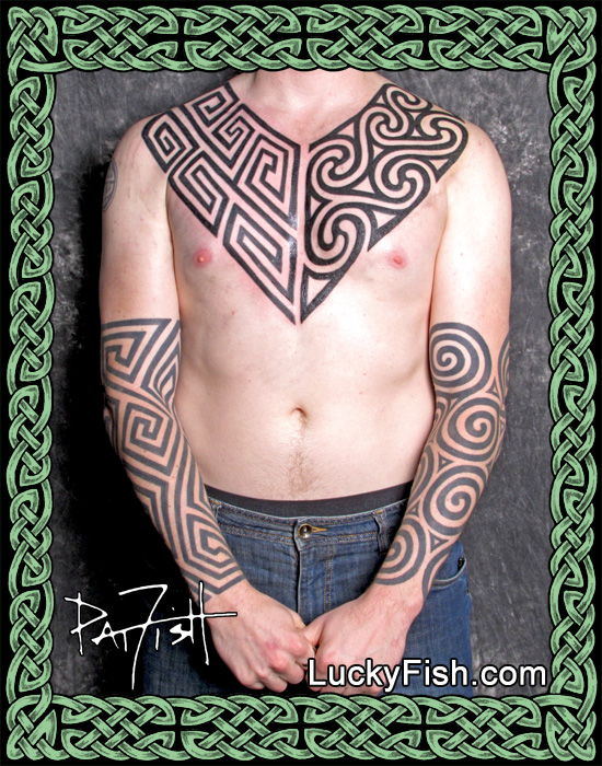 Pictish Geometric Spiral Tattoos by Pat Fish
