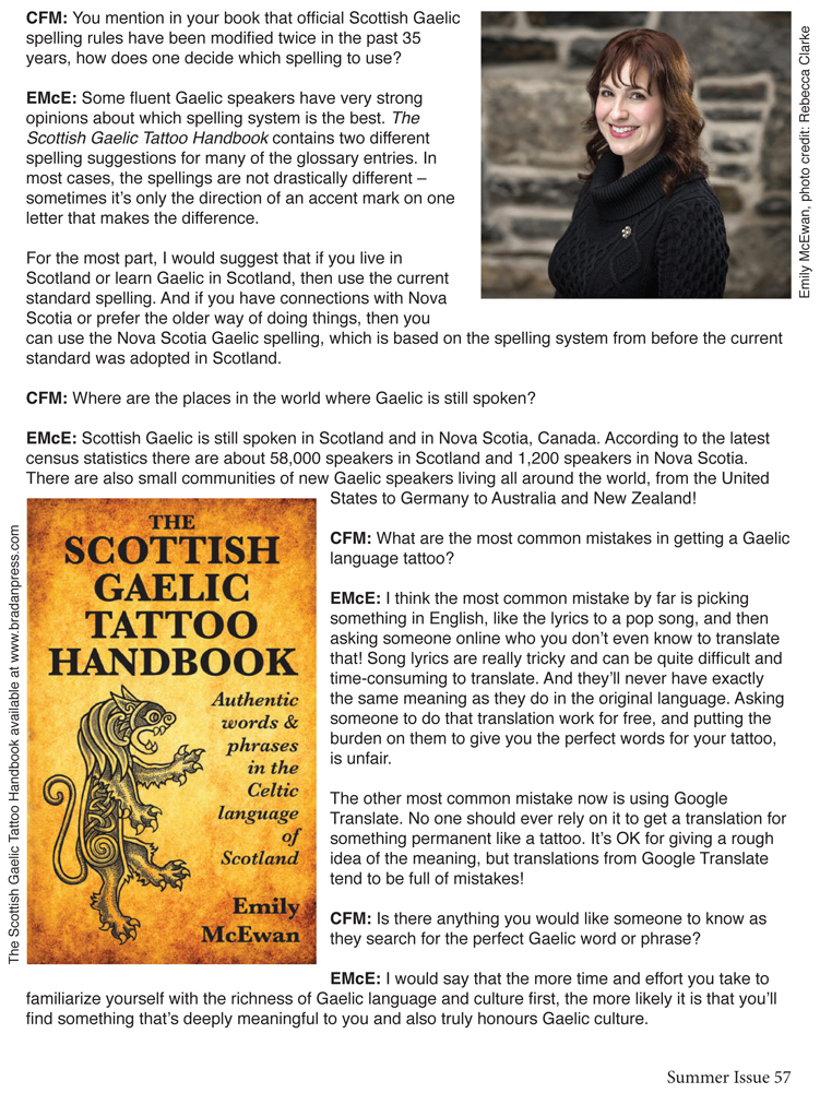 Scottish Gaelic Tattoo Handbook, Cover Art by Pat Fish