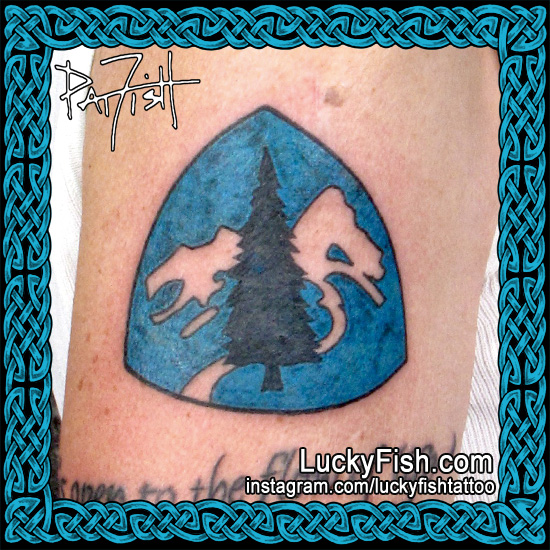 Pacific Crest Trail Tattoo by Pat Fish