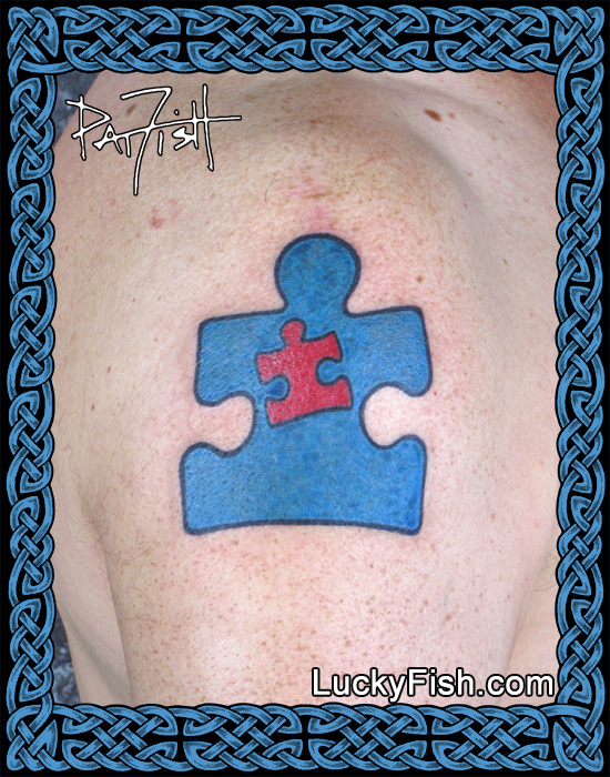 Autism Father-Son Dedication Tattoo by Pat Fish