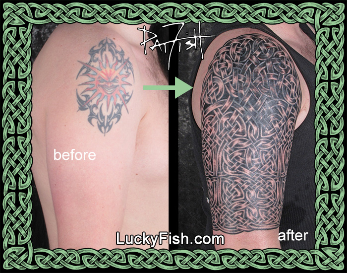 Celtic Sleeve Coverup Tattoo by Pat Fish