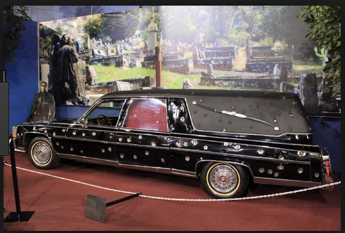 Terminator 3 1981 Cadillac Brougham  now at the Miami Auto Museum with 150+ bullet holes