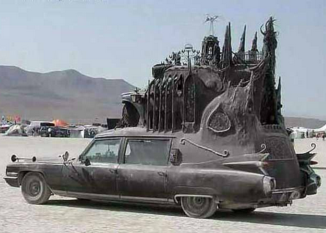 Carthedral, the best art car hearse ever