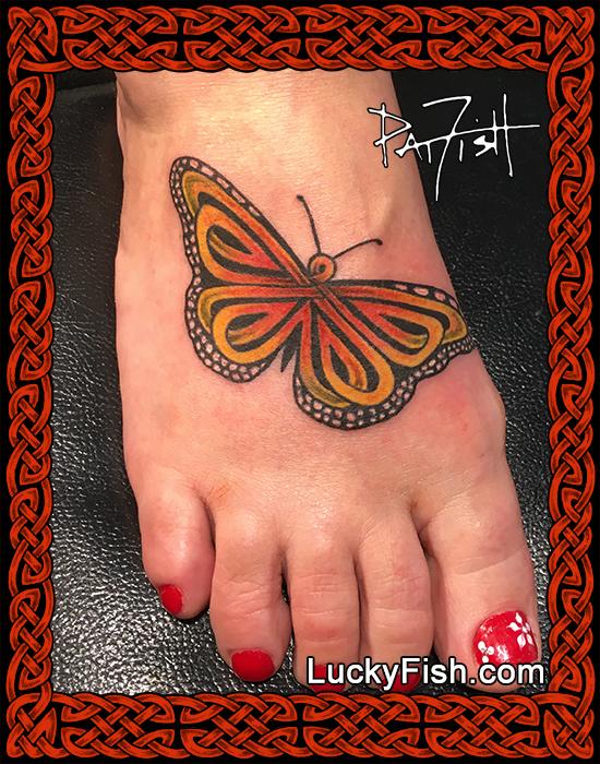 Celtic Monarch Butterfly Tattoo Design Luckyfish Inc And Tattoo Santa Barbara