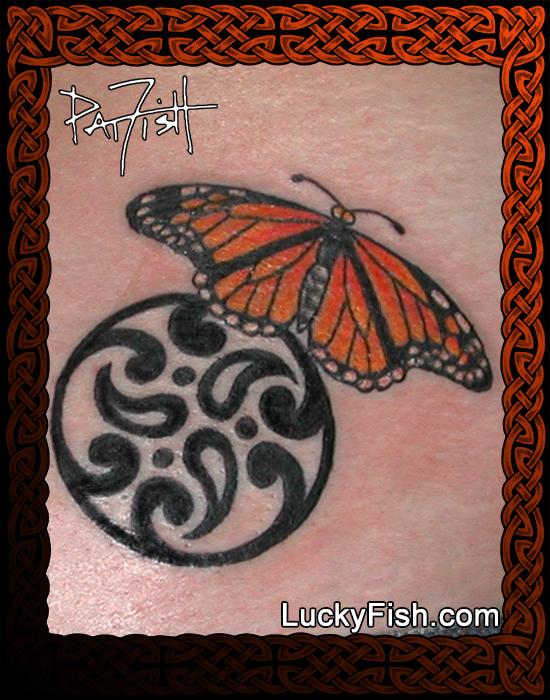 Monarch Goddess tattoo by Pat Fish