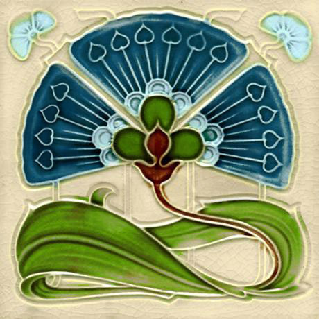 art_nouveau_fan_flower_tile_coaster.jpg