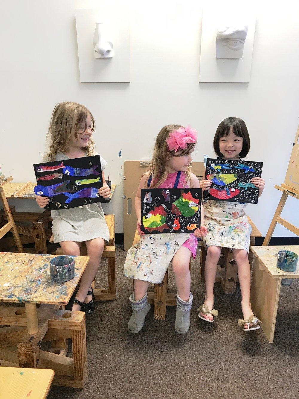 Kara Thachuk, Georgia Gammell, Charlotte Park Repeat Fish project Mini Makers 2017.jpg