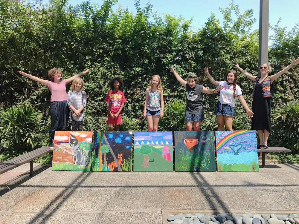 summer intensive group photo with Hazel and Jenna Large Canvas Painting SAI 2017.jpg