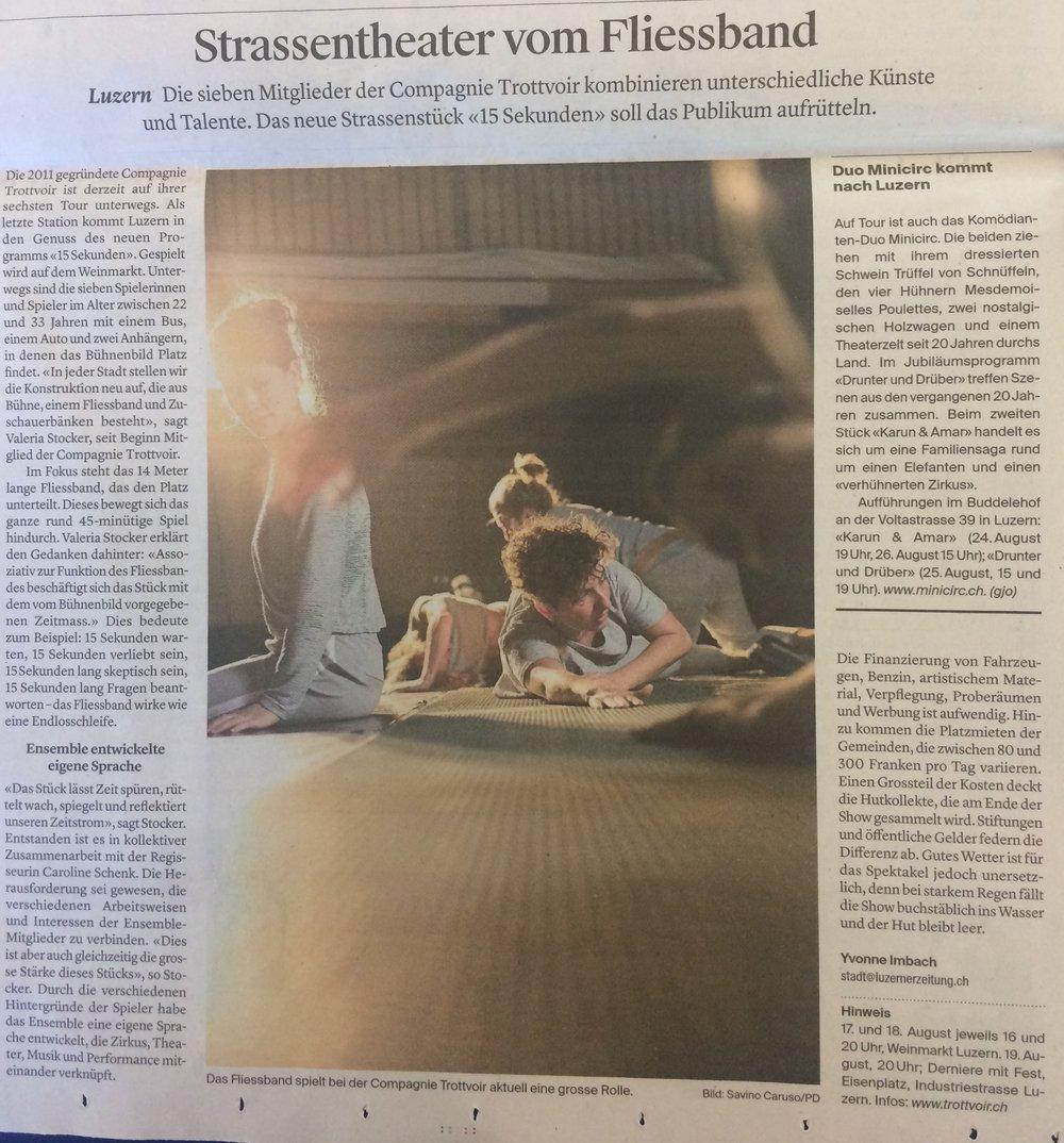 16.08.2018 - Luzerner Zeitung