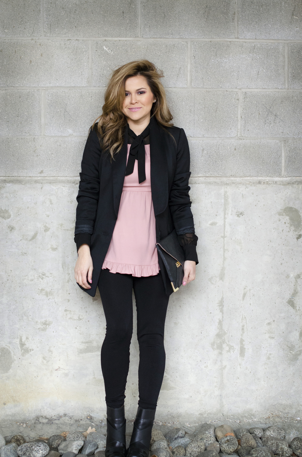 pink-and-black-blouse-and-blazer