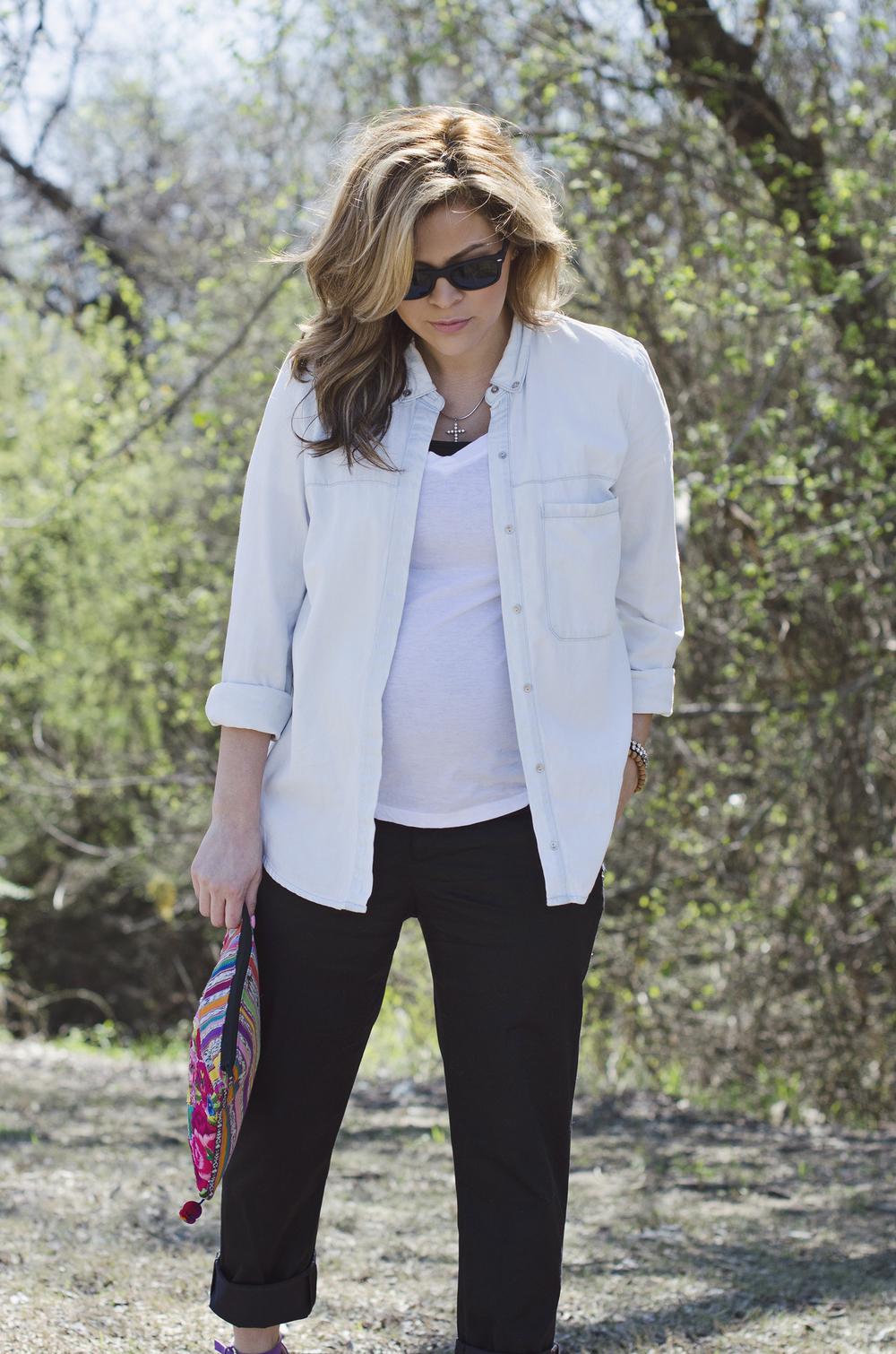 chambray-black-trousers-maternity