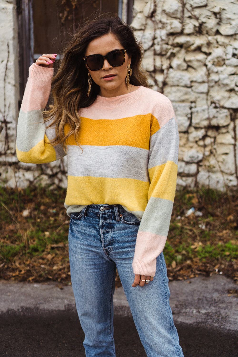 Spring Feels - with a colorful sweater