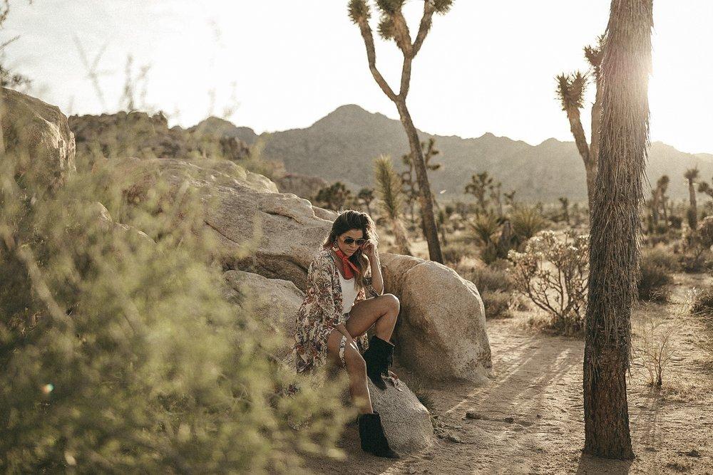 boho style in desert