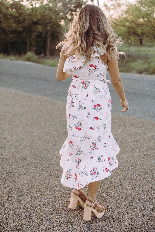 floral one shoulder dress