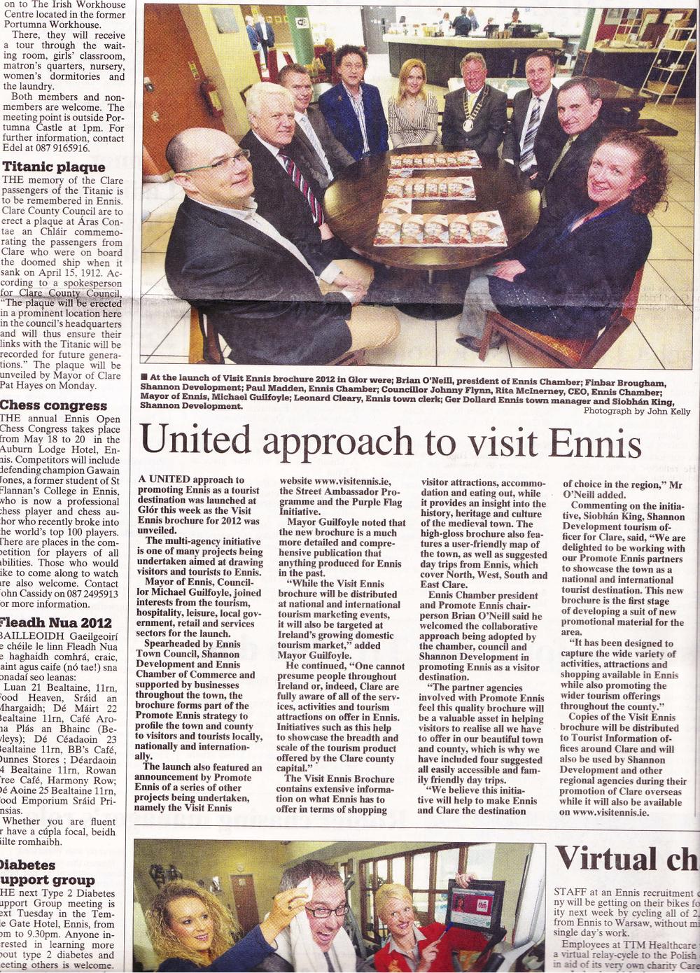 Promote Ennis Brochure Launch
