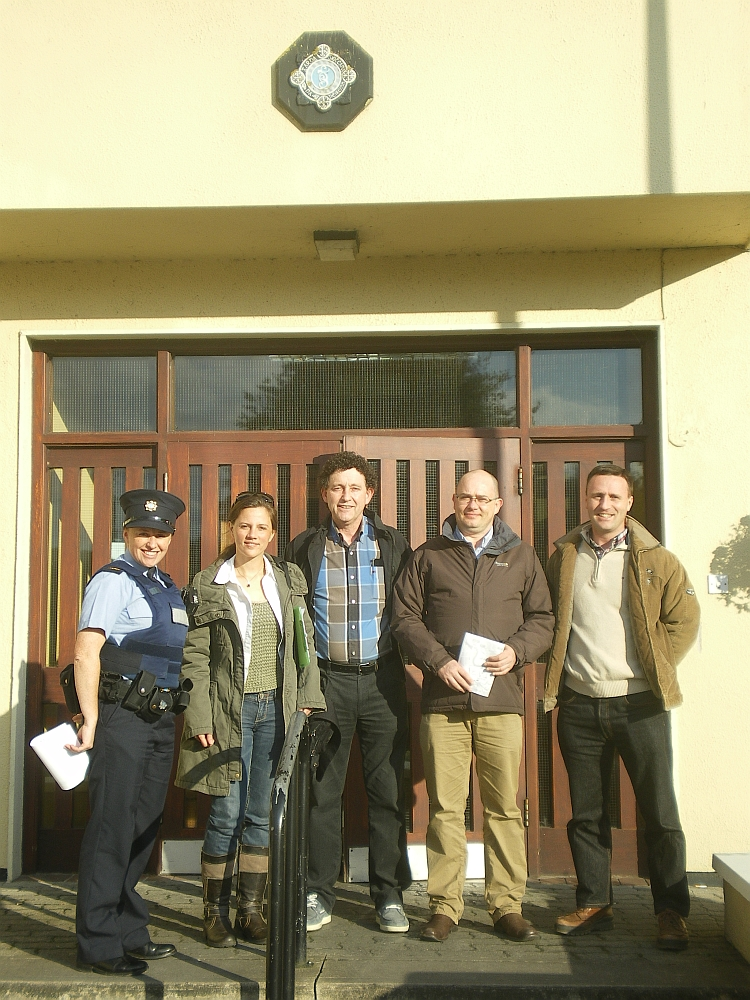 Overnight Self-Assessment Team, early eve, Ennis Garda Station.jpg