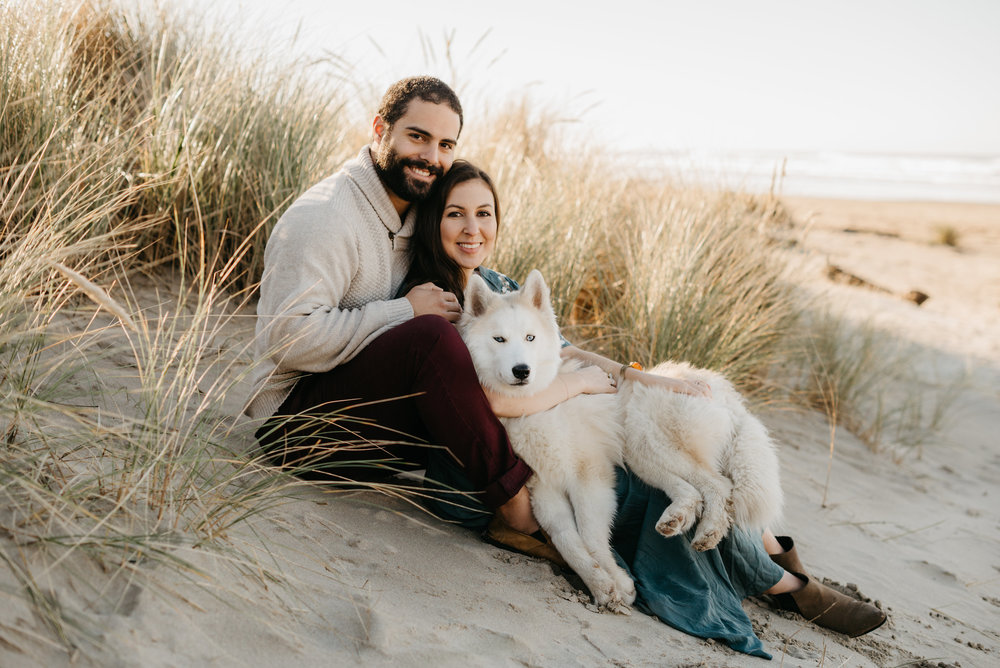Now, I cannot imagine our beginning without you. We've grown closer as a couple in our mutual adoration for our sweet pup. You light up our lives and we can't imagine life without you in it. PC:  Opal and Rose Photo