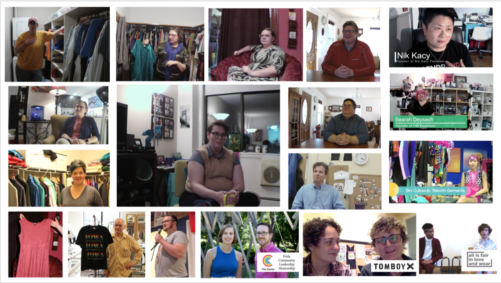 Images of the participants and individuals who completed interviews and lent or donated garments for display.