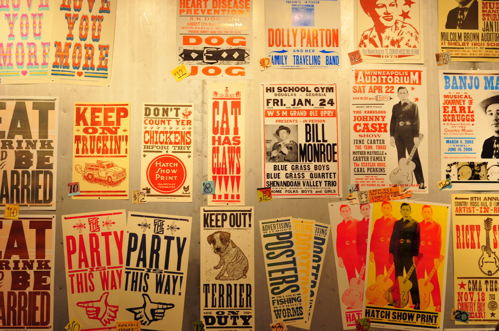 Posters for Sale at the Gift Shop