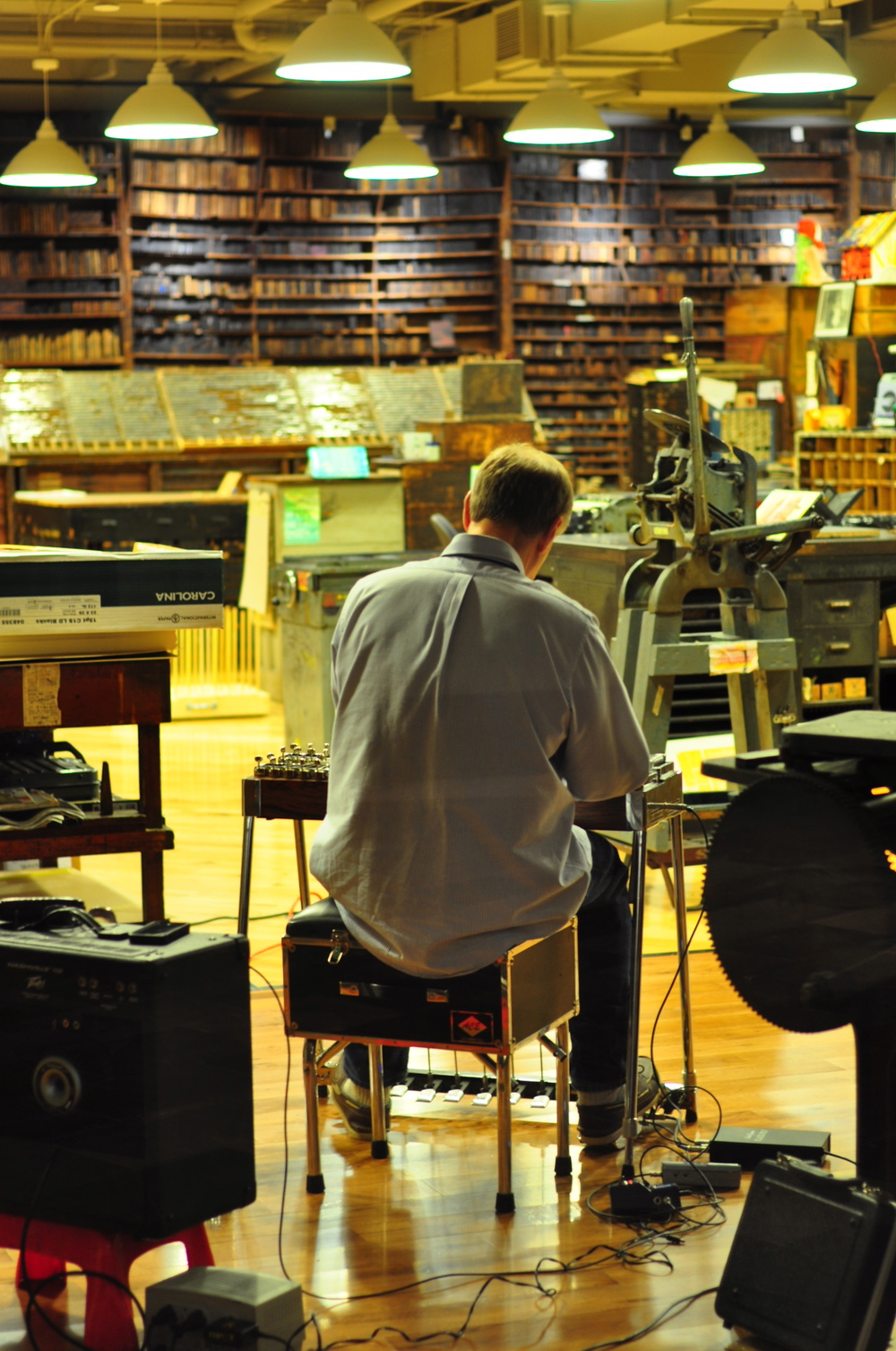 Wrapping up the day on the steel guitar.