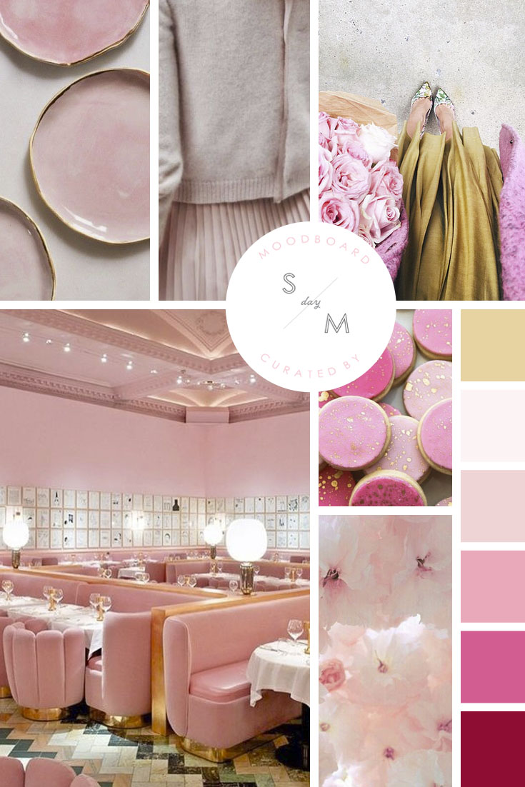 BLUSH AND GOLD MOODBOARD