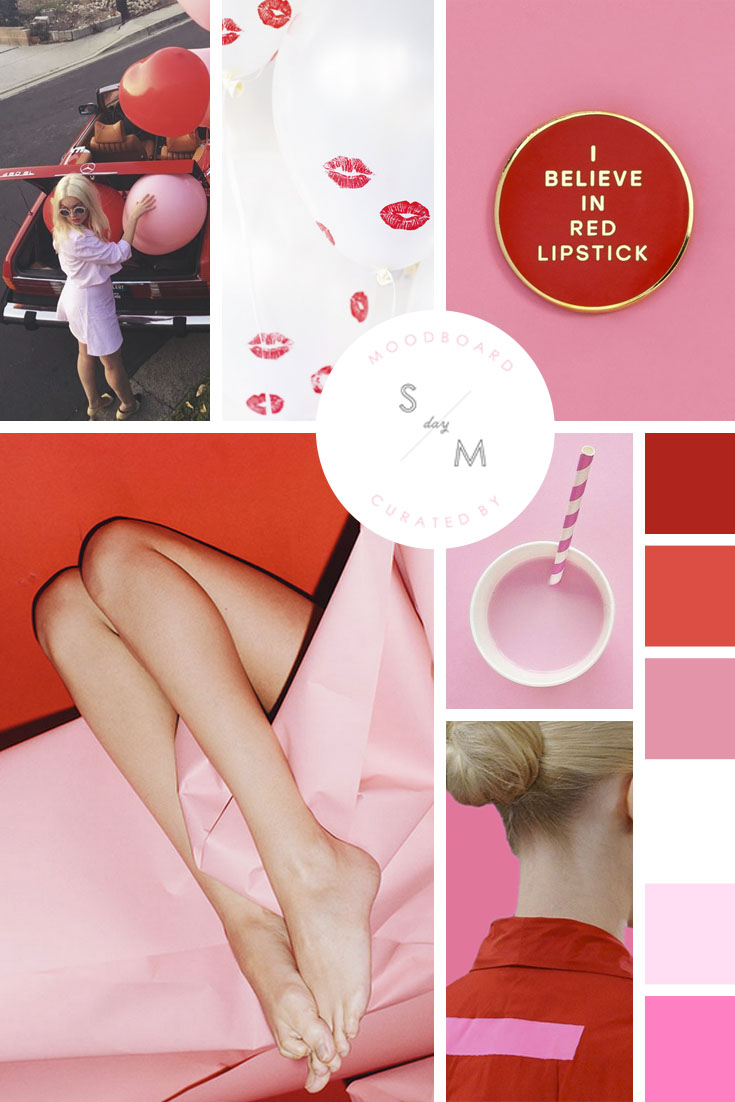 MOODBOARD PINK AND RED