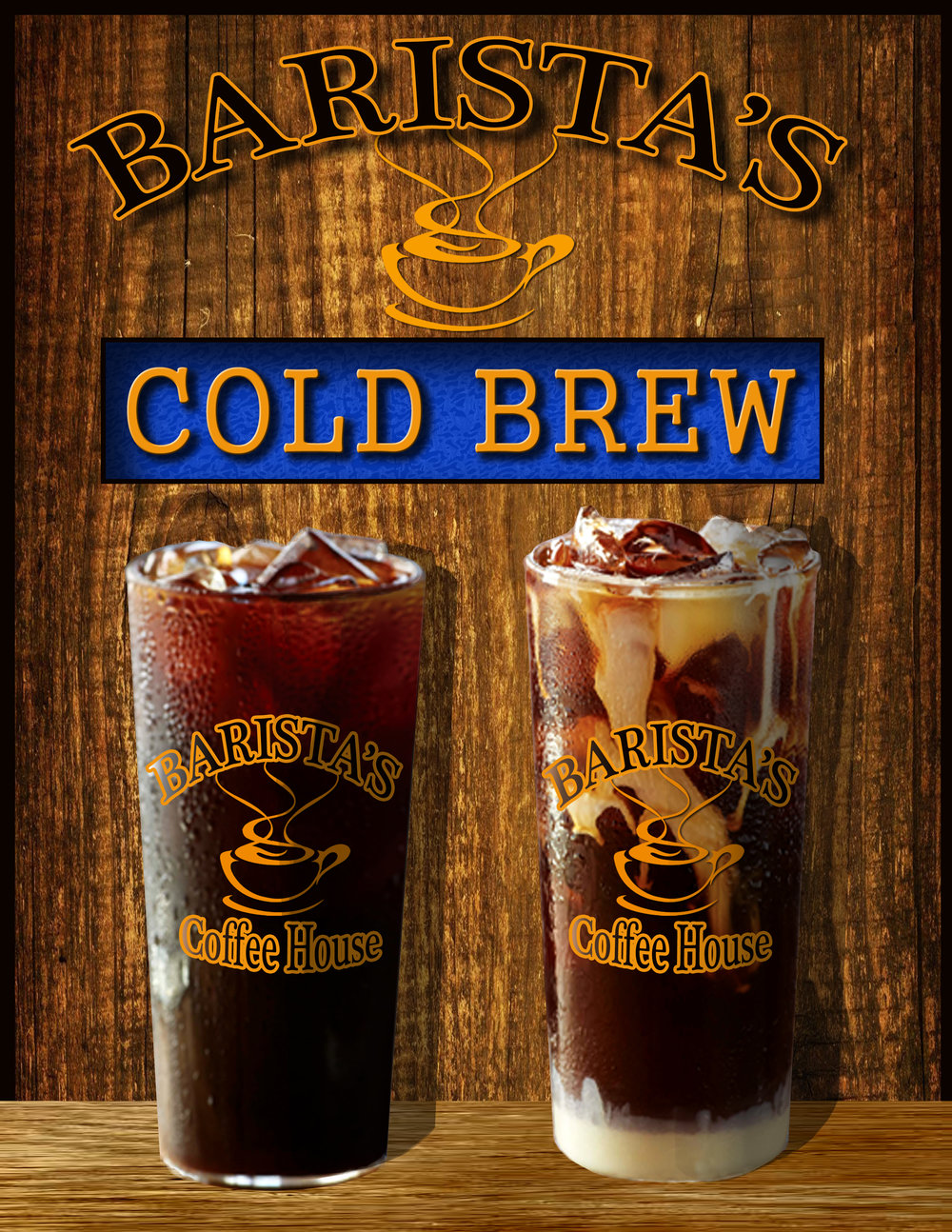 Barista's Cold Brew is Brewed for 24 hrs at room temp creating a smooth taste that is low in acidity.