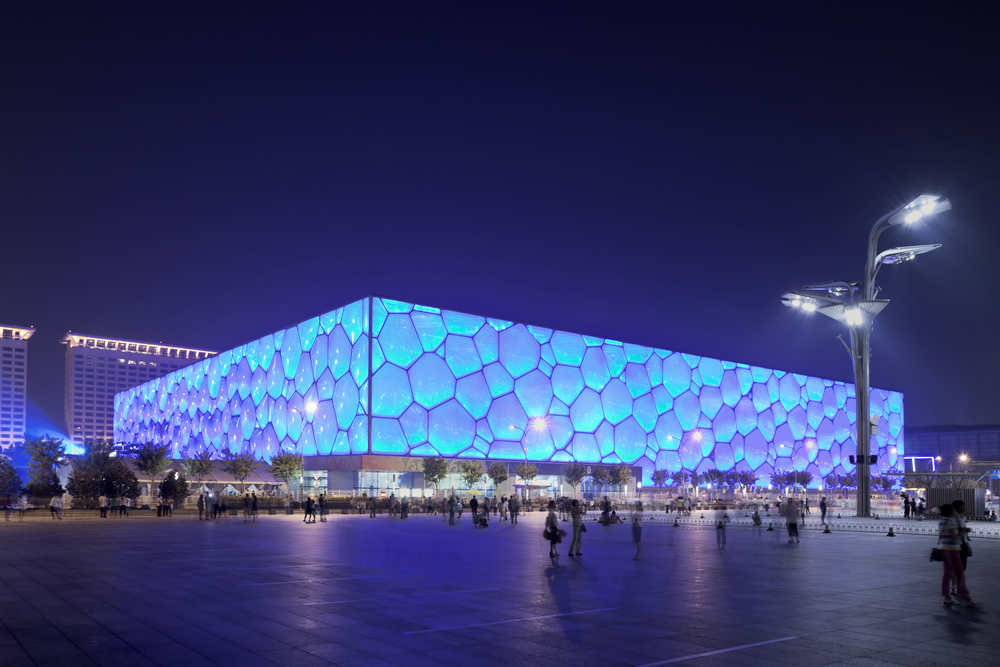 WATER CUBE IN BEIJING BUILT FOR THE 2008 OLYMPICS