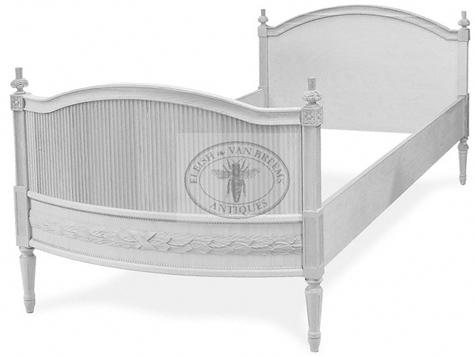 Sofia Gustavian Bed   Low Headboard
