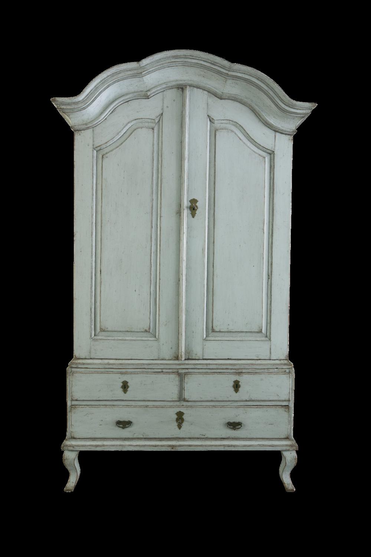 Genial 18th C. Swedish Rococo Cabinet