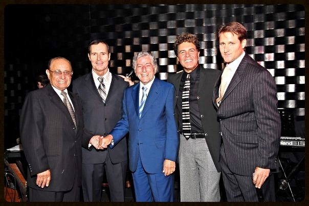 Co-founders Ryan Wolfington and Marty Hennessy with Advisory Board members Mike Agassi, Tony Bennett, and Clint Holmes