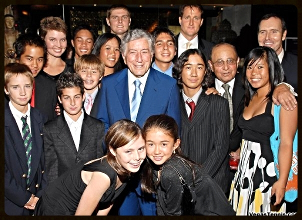 Advisory Board member Tony Bennett with the Foundation youth